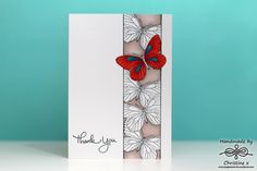 butterfly thank you card by Christine