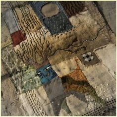 Jude Hill © Spirit Cloth 2015 (I like the idea of patchwork with tree enbroidery.)