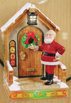 Santa is taking some time out for decorating his own place.  Again, the magic cord elements are wonderful.