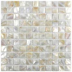Show cream 1x1 pearl shell tile