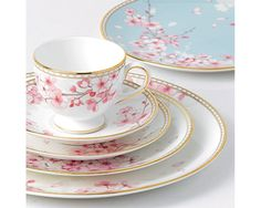 Wedgwood Spring Blossom 40Pc China Set, Service for 8 #Wedgwood