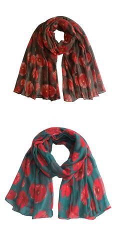 d1d556f671e1d 100cm*180cm new red poppy print long scarf flower beach wrap ladies stole  shawl voile