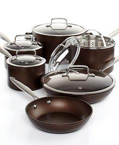 Martha Stewart Collection Bronze Select Nonstick 12 Piece Cookware Set