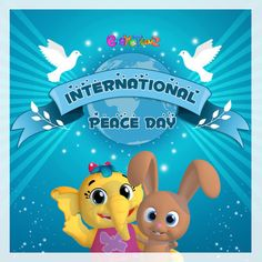 Celebrate International Peace Day with and her friends! Rhymes Collection, Teddy Bear Nursery, Kids Songs, Nursery Rhymes, Elephant, Day, Nursery Songs, Elephants, Preschool