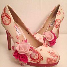 aa3c71e3cae7 Mariée hot pink polka dot dames chaussures alice au pays des Damenschuhe,  Handtaschen, Rosa