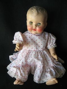 """Vintage 1950s Baby Doll Constance Bannister/ Sub Rubber Company 18"""" with Dress (05/19/2014)"""