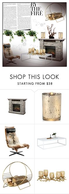 """Winter is here! [contest]"" by mansi016 ❤ liked on Polyvore featuring interior, interiors, interior design, home, home decor, interior decorating, Aromatique and fireplace"