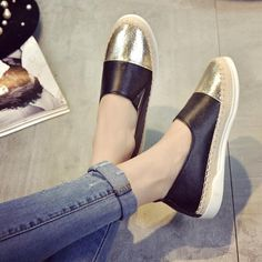 Fabulous Women Espadrilles Flats Shoes, Mix Color Creepers Slip On Women Loafers Shoes Glitter Shoes Leather Fashion, Fashion Shoes, Glitter Iphone 6 Case, Loafers For Women, Shoes Women, Women's Espadrilles, Fabric Shoes, Glitter Shoes, Toe Shape