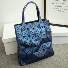 9aacbc55d1 Diamond Lattice Tote Geometry Quilted Shoulder Crossbody Bag Folded Handbags