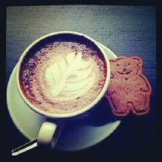 Beary Happy <3 Espresseco latte coffee capsule cookie biscuit cute biodegradable green ecofriendly