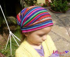 Headkerchief for Girls or Women made of Peruvian Inca Manta Fabric Hippie Headkerchief Infant Headband Rainbow Colors Summer Gifts for Girls - pinned by pin4etsy.com