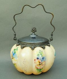 Mount-Washington-Victorian-Art-Glass-Biscuit-Jar-w-Original-Lid-Nice