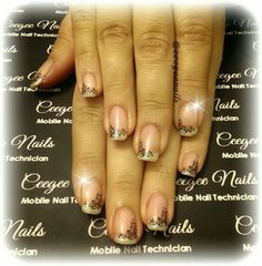 Classic French #gelpolish Manicure with #naildesign
