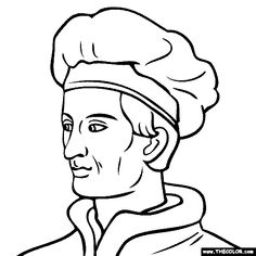 coloring pages of famous explorers - photo#9