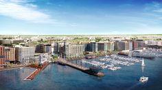 Massive Waterfront Redevelopment Receives Green Light in Washington D.C.,Master Plan © Perkins Eastman