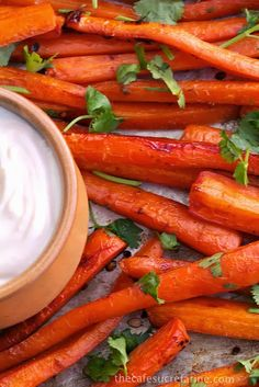 Honey Roasted Carrots with Lemon Tahini Yogurt Sauce