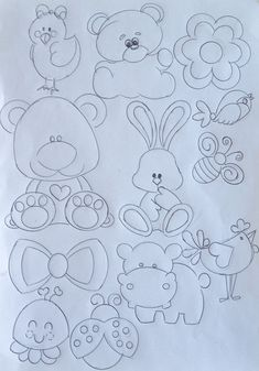 40 Creative Drawing Ideas and Topics for Kids Felt Patterns, Applique Patterns, Applique Designs, Sashiko Embroidery, Hand Embroidery Designs, Embroidery Stitches, Quilting Stencils, Drawing For Kids, Drawing Ideas
