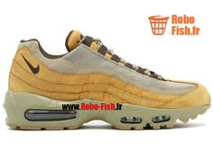 """Nike Air Max 95 Prm """"Wheat"""" - Chaussure Nike Running Pas Cher Pour Homme Bronze Baroque Brun-Bambou 538416-700"""