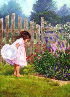 庭で少女は・・・ おじゃかんばん『Believe-幸せになれる愛のスピリチュアル・ヒーリング』