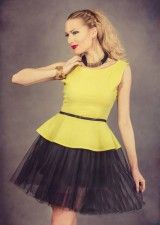Rochie Arisha Galbena- www.zonia.ro Peplum, Casual, Collection, Tops, Women, Fashion, Moda, Fashion Styles, Veil