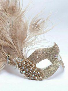 Black Gold Half Face Or Gold Ivory Glazed Look Eye Mask Adult Fancy Dress