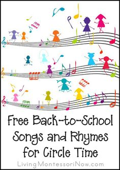 Free Back-to-School Songs and Rhymes for Circle Time