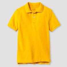 Boys' Pique Polo - Cat & Jack, Boy's, Size: Medium, Gold