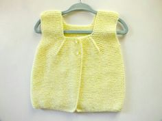 Items similar to Yellow Baby Vest//Hand Knitted Baby Vest//Newborn Vest//Knitted Baby Vest //Hand Knitted Baby Sweater in Soft//Children Vest//Baby Clothes// on Etsy Knit Baby Sweaters, Girls Sweaters, Cardigan Sweaters, Knitted Baby, Baby Knitting Patterns, Hairstyle Trends, Odd Molly, Bebe Baby, Two Piece Skirt Set