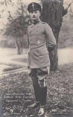 WWI; Prince Friedrich Sigismund of Prussia (1891-1927), a military pilot during the war.