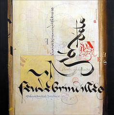 Calligraphies sur toile - Jean-Frédéric Crevon plasticien calligraphe, Montpellier