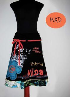 Falda-Vestido-Capa Vive-la Vida- Talla 40 / MiXeDesigns lab - Artesanio