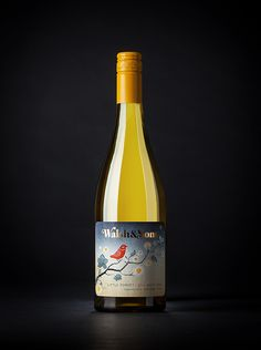 Wine label design and illustration for Walsh & Sons by Fusebox Design.
