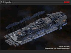 Repair Dock Space Station asset space spaceship, formats OBJ, FBX, UNITYPACKAGE, ready for animation and other projects Spaceship Art, Spaceship Design, Space Engineers Game, Space Station 3d, Scrap Mechanics, Planet Design, Starship Concept, Sci Fi Environment, Space Battles
