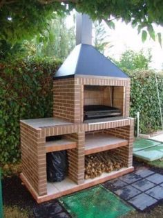 8 Increíbles asadores que puedes hacer tu mismo - Ideas Perfectas The Effective Pictures We Offer You About grilling murowany A quality picture can tell you many things. You can find the most beautifu Outdoor Barbeque, Outdoor Oven, Parrilla Exterior, Brick Grill, Barbecue Design, Backyard Fireplace, Backyard Patio, Outdoor Decor, Grilling Tips