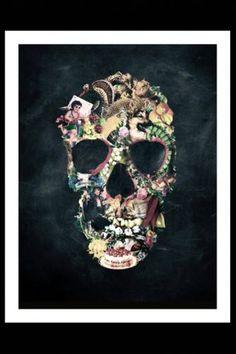 £40 Vintage Skull Fine Art Print