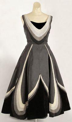 Fontana silk and velvet party dress | Vintage Textile Archives, 1950s
