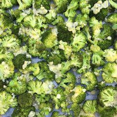 Knoflook broccoli uit de oven