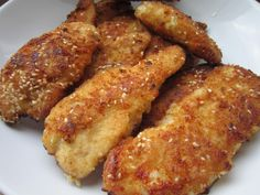 Chicken Tenders Recipe Children won''t be able to resist this amazing chicken tenders recipe. This all-time kid favorite gets on the table in a hurry. Chicken Tenders, Chicken Wings, Chicken Tender Recipes, Kids Meals, Entrees, Main Dishes, Sausage, Bacon, Food And Drink