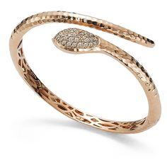 Bracelet Snake en or rose 18 carats et diamants roses (Roberto Coin) Bracelet Serpent, Snake Bracelet, Snake Jewelry, Animal Jewelry, Jewelry Art, Bangle Bracelets, Fine Jewelry, Bangles, Snake Ring