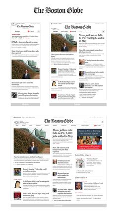 A good example of Responsive web design - on the news websites. The Boston Globe.