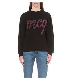 MCQ ALEXANDER MCQUEEN Mettalic Mcq Cotton Jumper. #mcqalexandermcqueen #cloth #tops