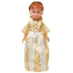 Vos enfants pourront assortir la tenue de leur poupée à leur déguisement d'Alice Reine Or et ainsi s'inventer de belles histoires de châteaux et royaumes.