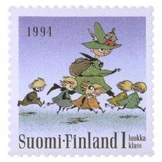 Postimerkki: Muumeja - Tove Jansson, Vaarallinen Juhannus | Suomen postimerkit Tove Jansson, Stamps, Fictional Characters, Art, Finland, Seals, Art Background, Kunst, Performing Arts