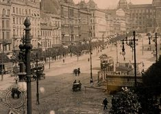Photograph of the Wenceslas Square from Prague Photos, Prague Czech Republic, Heart Of Europe, Austro Hungarian, History Photos, Beautiful Places In The World, More Pictures, Time Travel, Places To See