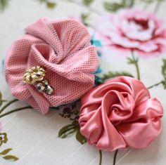 Fabric Flower Tutorial   ... Rosey Pirouette Fabric Flower Tutorial (Instant Ebook Download