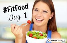 I started the 30-Day #FitFood Challenge today at @SparkPeople! Wish me luck!