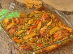 Fırında Sebzeli Tavuk Yemeği Resimli Tarifi - Yemek Tarifleri