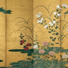 Flowers and Grasses of the Four Seasons , Circle of Kano Mitsunobu (Japanese, ca. )