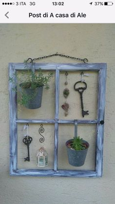 Precious Tips for Outdoor Gardens - Modern Old Window Crafts, Old Window Projects, Diy Projects, Farmhouse Shutters, Rustic Shutters, Diy Shutters, Farmhouse Decor, Garden Crafts, Garden Art