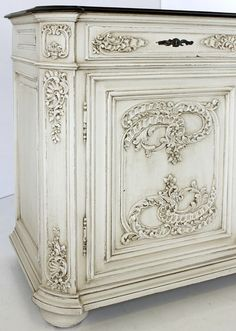 Antique French Louis XIV Painted Buffet   Antique Country French Buffets   Inessa Stewart's Antiques